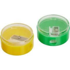 Точилка для карандашей с контейнером круглая (2 штуки в упаковке)