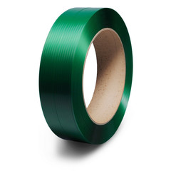 Стреппинг-лента полиэстеровая зеленая 12x0.6 мм длина 2500 м