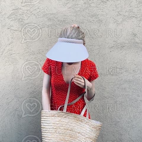 Широкий козырек от солнца-ободок на голову (цвет: Белый)