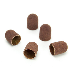 ruNail, Колпачок абразивный, 5*11 мм, 80 грит (5 шт.)