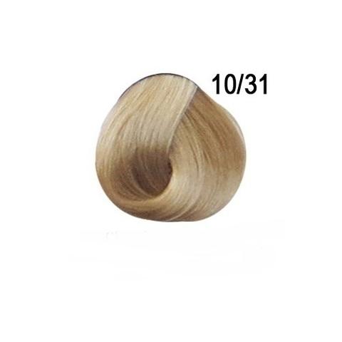 Перманентная крем-краска для волос Ollin 10/31 светлый блондин золотисто пепельный