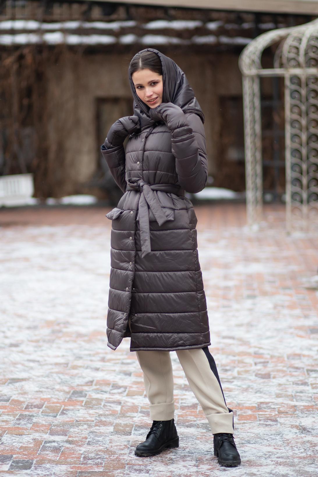 Утепленное стеганое пальто