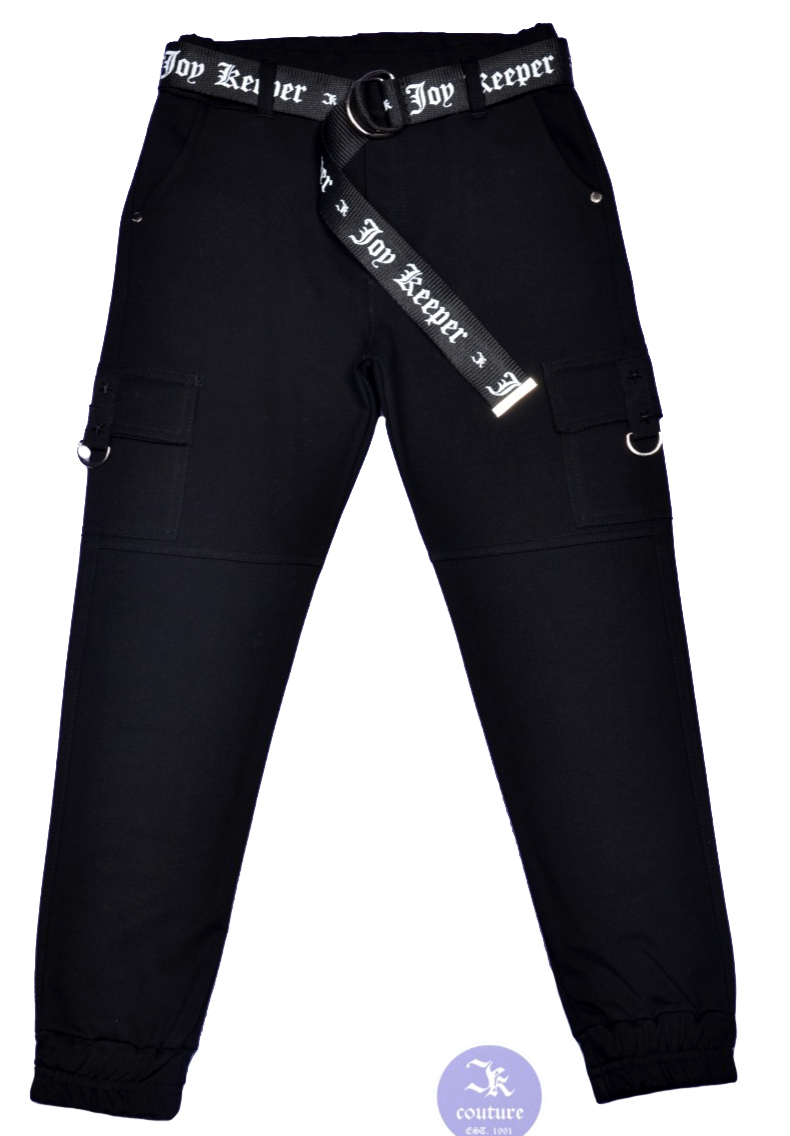 2899 штаны Joy Keeper накладные карманы ремень