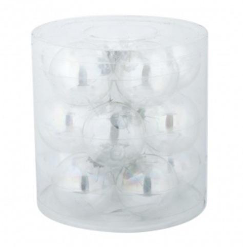 Набор шаров 15шт. в тубе (стекло), D6см, цвет: прозрачные