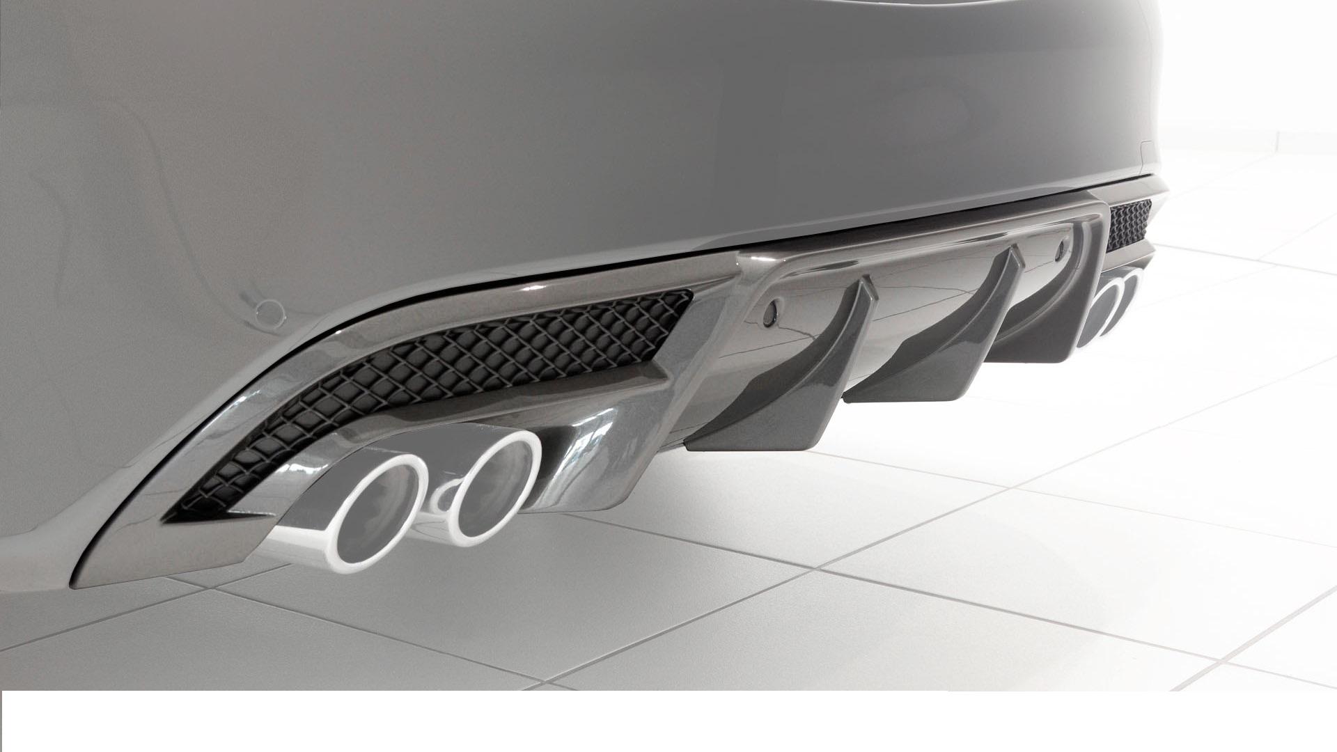 Карбоновый диффузор заднего бампера Brabus Style AMG Sport для Mercedes С-class W205