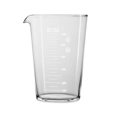 Мензурка 1000 мл, стекло