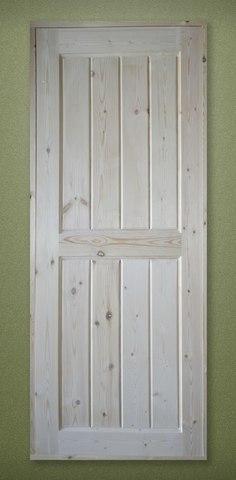 Дверь деревянная межкомнатная филенчатая 2000х800 с коробкой 100 мм