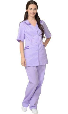 Костюм женский: куртка, брюки сиреневый с фиолетовым