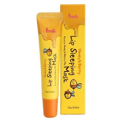 PRRETI Маска для губ Honey&Berry Lip Sleeping Mask, 15 гр