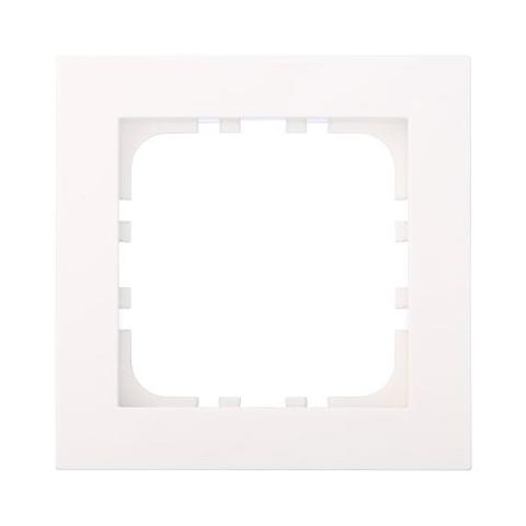 Рамка на 1 пост. Цвет Белый. LK Studio FLAT (ЛК Студио Флет). 844104