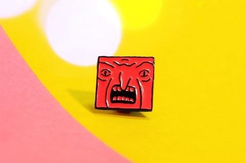 Значок Кубик красный (ШКЯ)