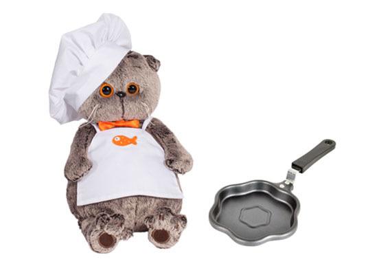 Кот Басик повар со сковородой