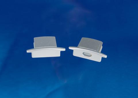UFE-N01 SILVER B POLYBAG Набор аксессуаров для алюминиевого профиля. Заглушки (4 шт., пластик). Цвет серебро. ТМ Uniel.
