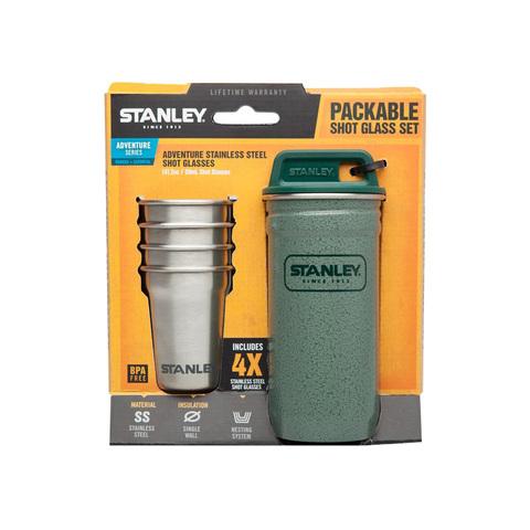 Набор стопок Stanley Adventure (4 шт по 59 мл. + футляр), зеленый