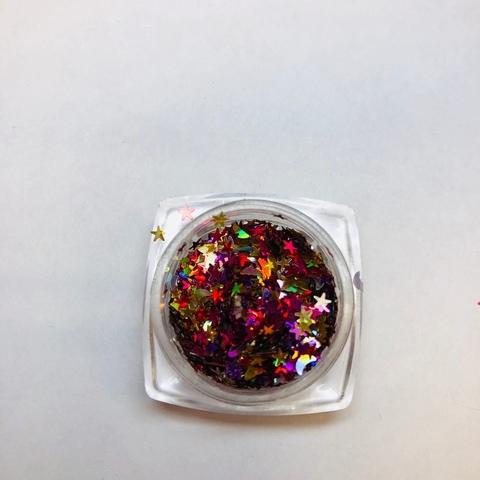 Микс цветной ( бабочки, луна, сердечки) №1