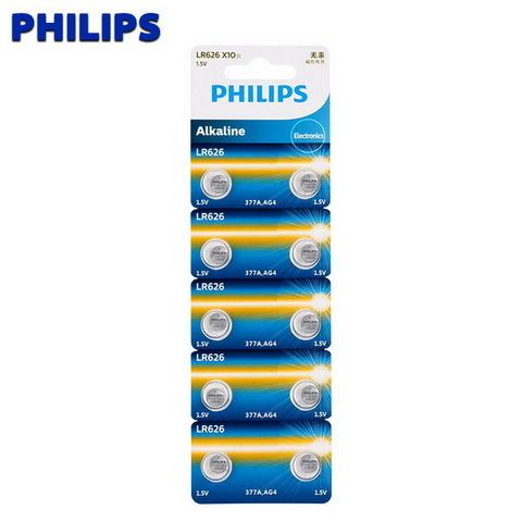 Батарейки часовые Philips LR626 (AG 4, 626) 10 BL
