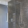 Душевая система с термостатом и тропическим душем для ванны KUATRO 4754RK250 - фото №2