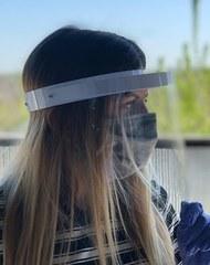 Защитный экран для лица многоразовый Plastic Shield