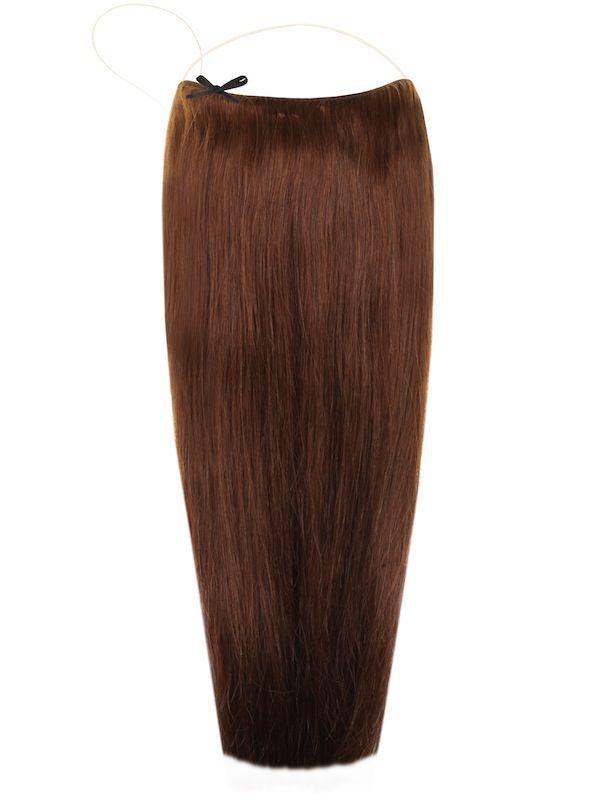 Волосы на леске Flip in- цвет #4- шоколад