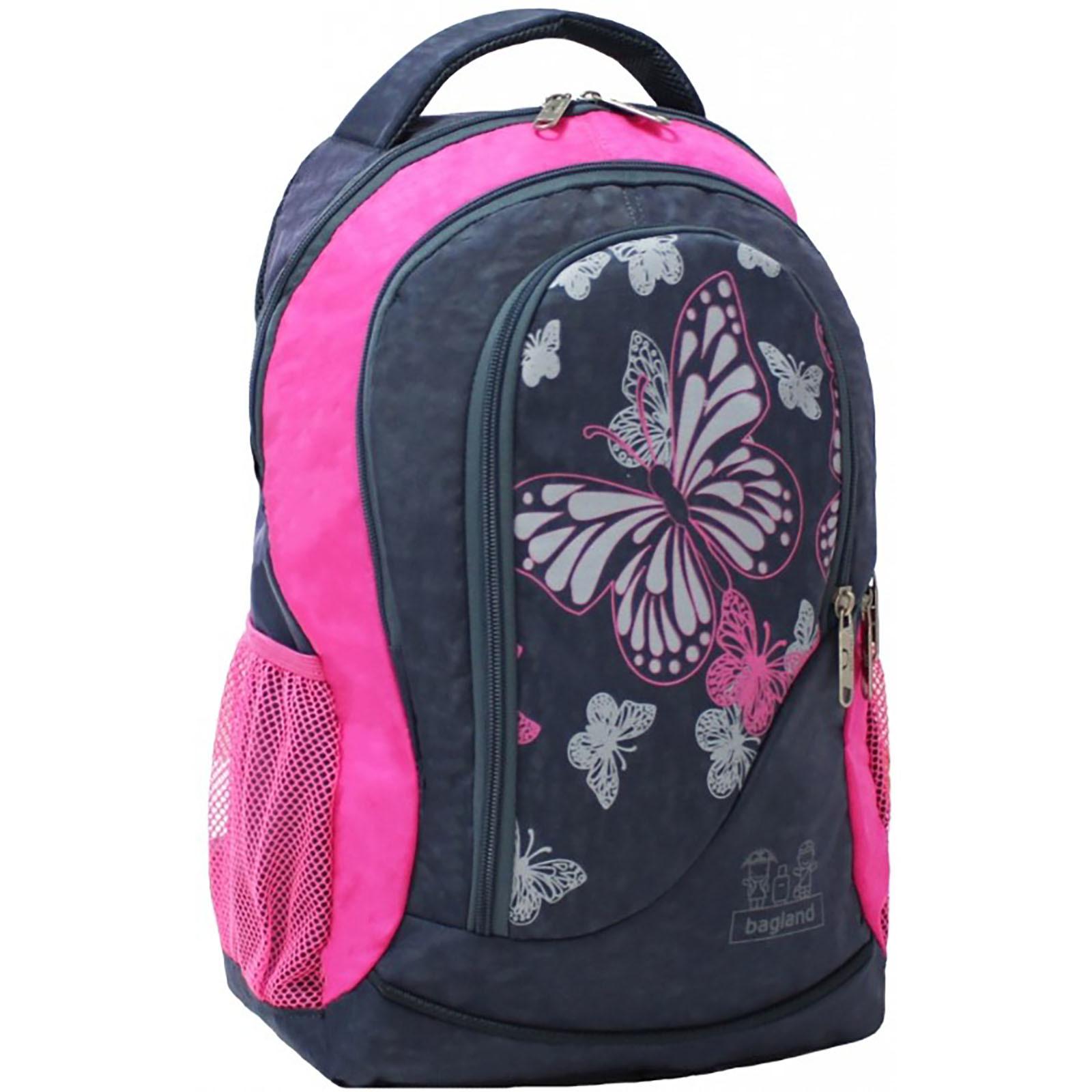 Городские рюкзаки Рюкзак Bagland Бис 21 л. Серый/розовый (0055670) Screenshot_4.jpg