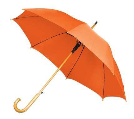 Зонт-трость с деревянной изогнутой ручкой