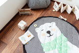 Мягкий игровой коврик и мешок для игрушек Play&Go. Белый мишка