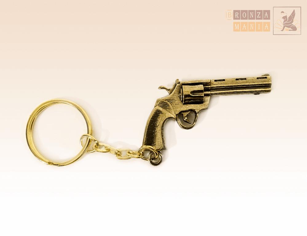 брелок Пистолет Револьвер Большой