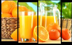 """Модульная картина """"Апельсиновый сок"""""""