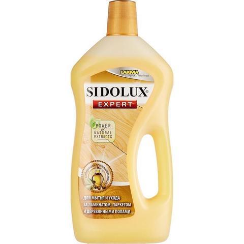 Средство для мытья пола SIDOLUX Expert 750мл д/дер.пол и ламин с арган масл
