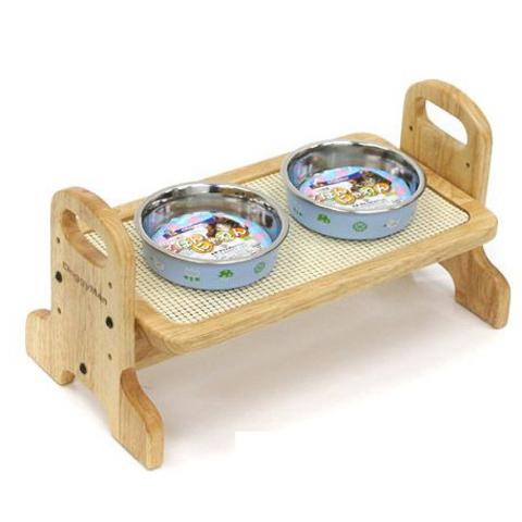 93308 - Подставка стол для мисок собак из дерева