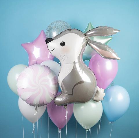 Фонтан из воздушных шаров Зайка