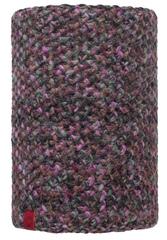 Вязаный шарф-труба с флисовой подкладкой Buff Margo Plum