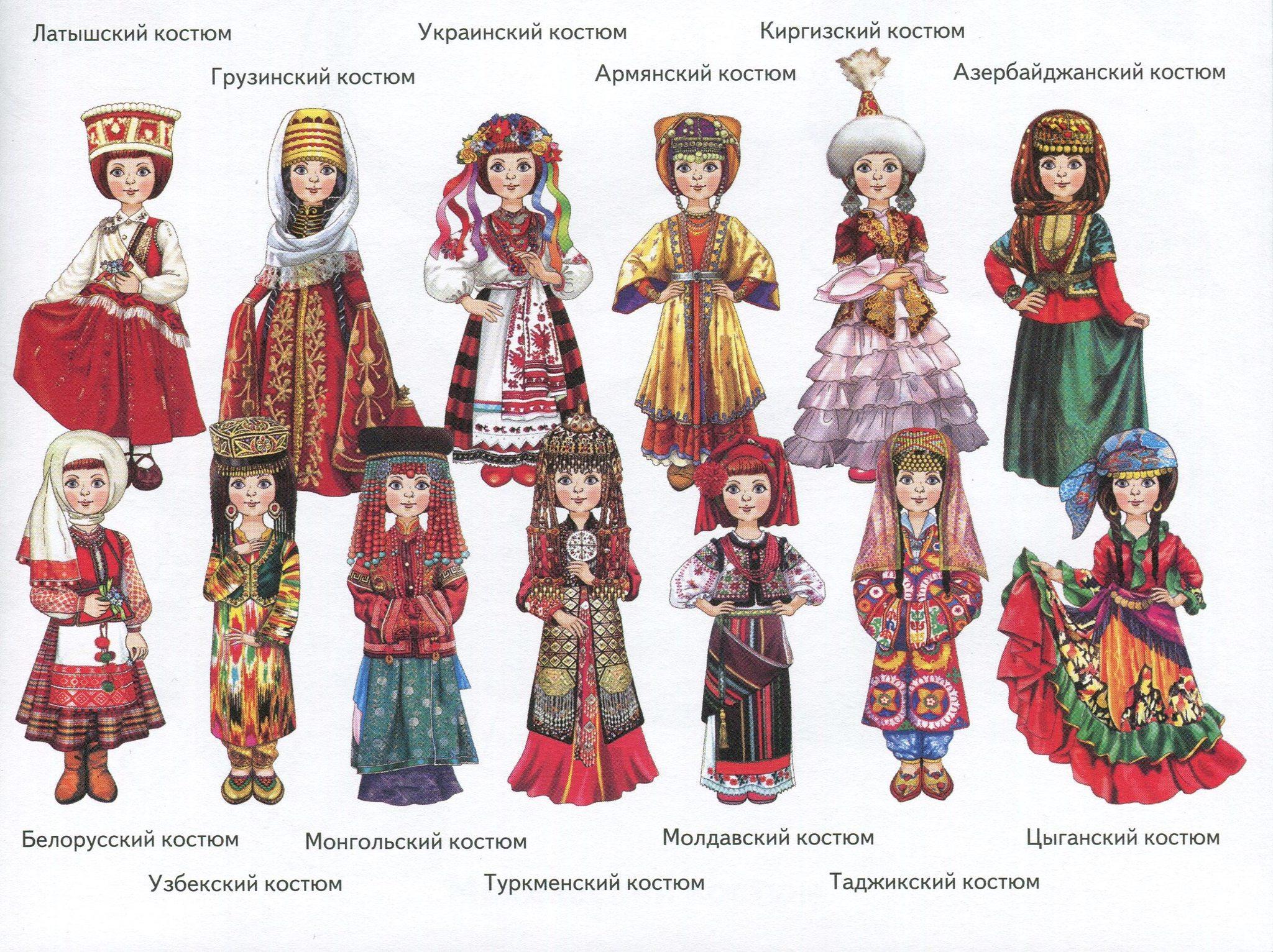 картинки народных костюмов разных стран для вас