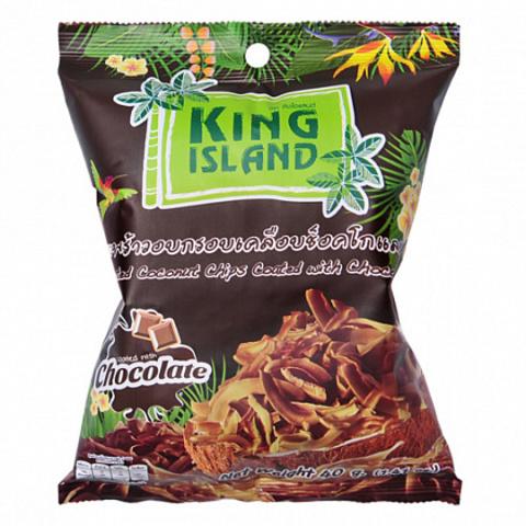 Кокосовые чипсы с шоколадом King Island, 40 г