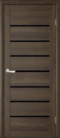 Дверь TrendDoors TDT-1, стекло чёрный акрилат, цвет дуб оксфорд, остекленная