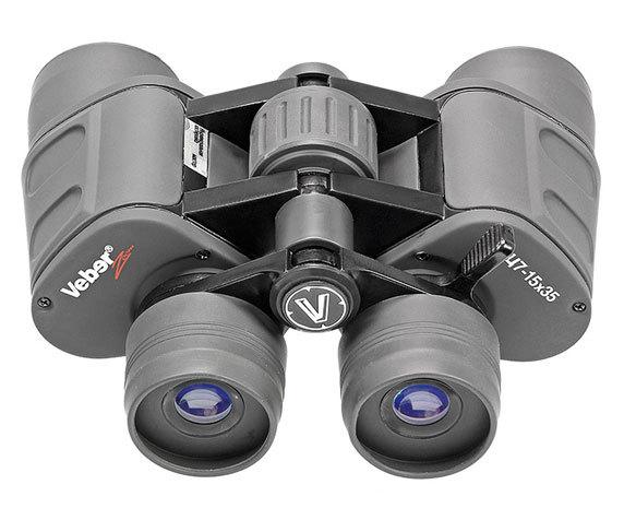 Эргономичный корпус с удобным колесом фокусировки Veber zoom 7-15x35