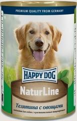 Консервы для собак Happy Dog NaturLine, телятина с овощами