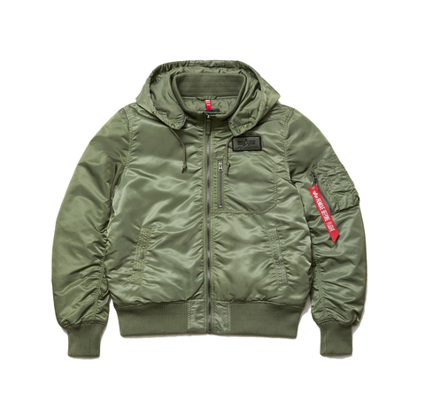 Куртка Alpha Industries MA-1 Hooded Rib Flight Jacket Sage