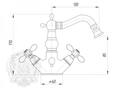 Смеситель для биде Migliore Princeton Plus ML.PRP-8044 схема