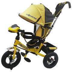 Велосипед Lexus trike 12x10 Надувные, светомуз. панель, Жёлтый (950M2-N1210-TXT-Yellou)