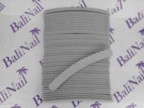 Пилка для ногтей (100/120) серая, бумеранг 50шт