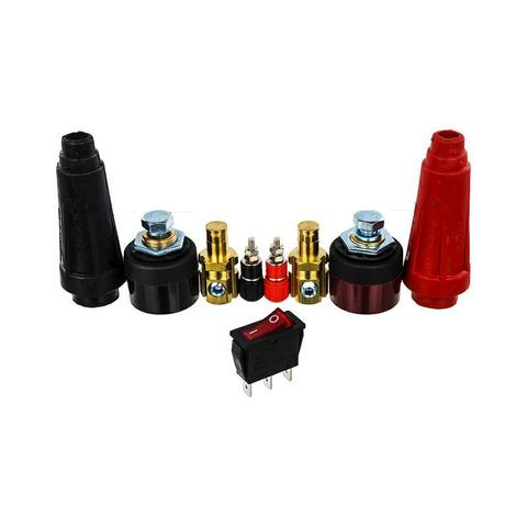 Комплект деталей DDE DPW200 (разъемы сварочных проводов+выключатель+зажимы) п.13-18 (12036038)