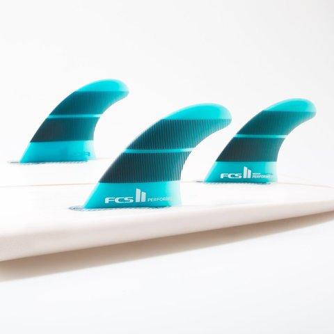 Плавники FCS II Performer Neo Glass Tri Fins Teal Gradient Medium