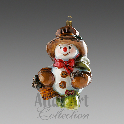 Снеговик с корзинкой