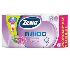 Туалетная бумага Zewa плюс 2-х слойная Сирень 8 шт