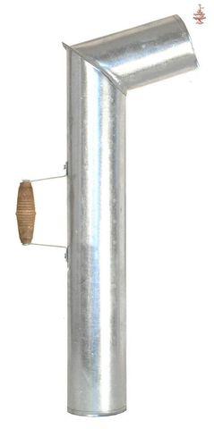 Труба для самовара с деревянной ручкой (сталь)