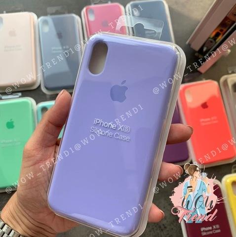 Чехол iPhone XR Silicone Case Full /glycine/ гортензия