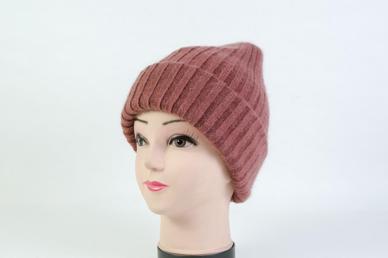 Женская шапка коричневая SH H9160A brown
