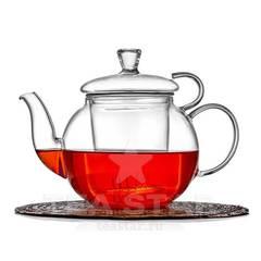 """Чайник заварочный """"Босфор"""" 600 мл, стеклянный с колбой фильтром"""