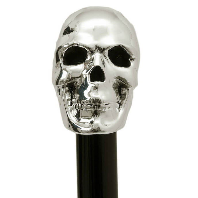 Трость Pasotti-BAW 33-Silver Skull Cane